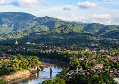 Top view of Luang Prabang, Laos